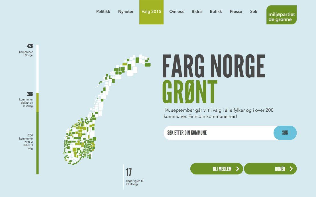 Desktop skjermbilde av Miljøpartiet De Grønne