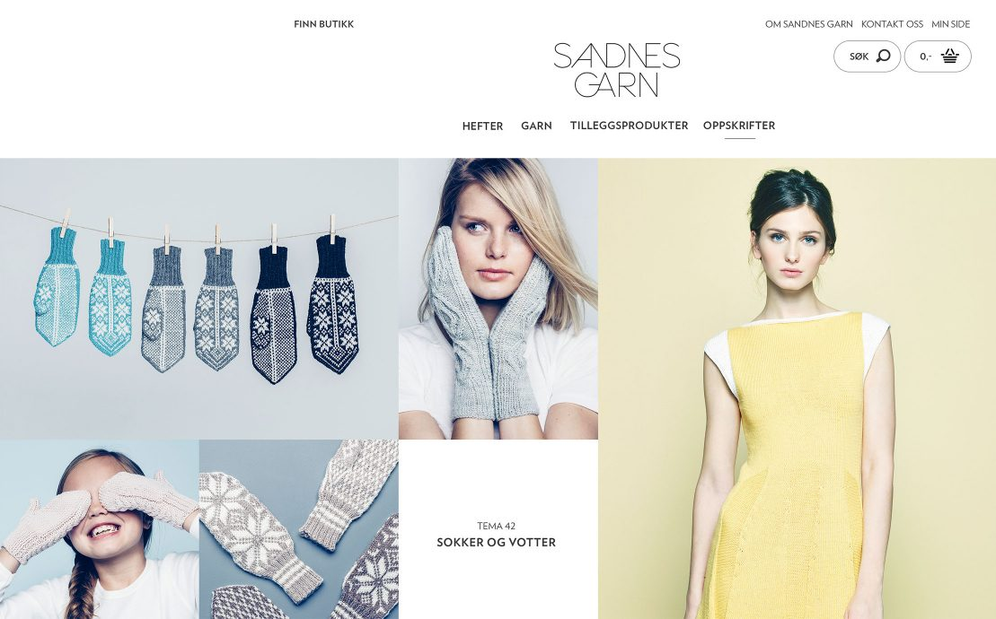 Desktop skjermbilde av Sandnes Garn
