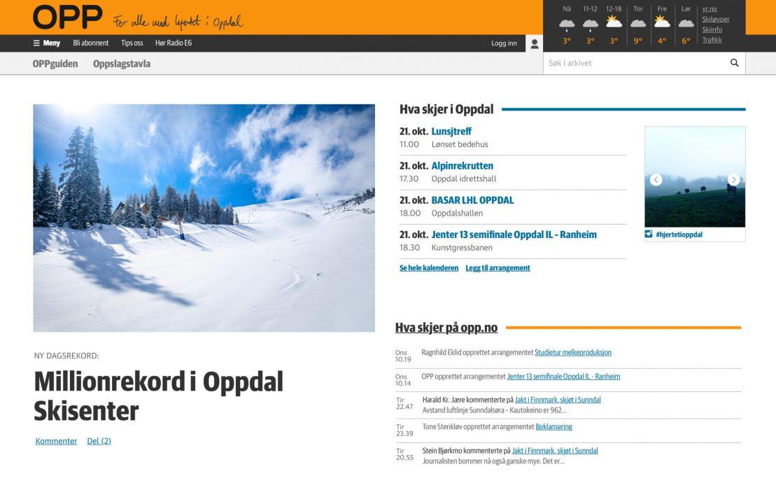 Desktop skjermbilde av Mediehuset OPP