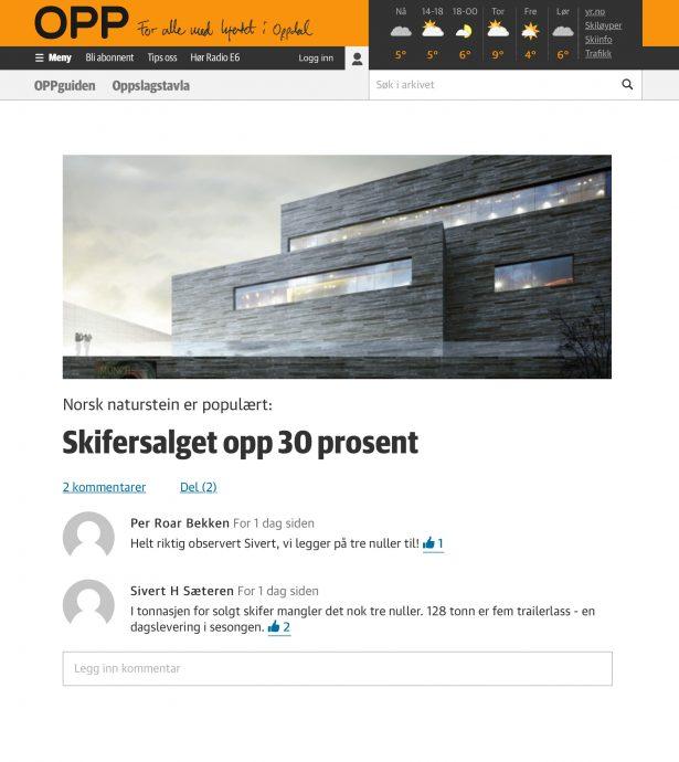 Nettbrett skjermbilde av Mediehuset OPP