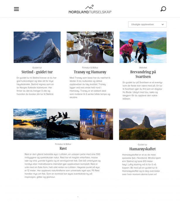 Nettbrett skjermbilde av Nordland Turselskap