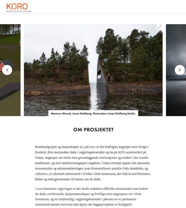 Nettbrett skjermbilde av KORO