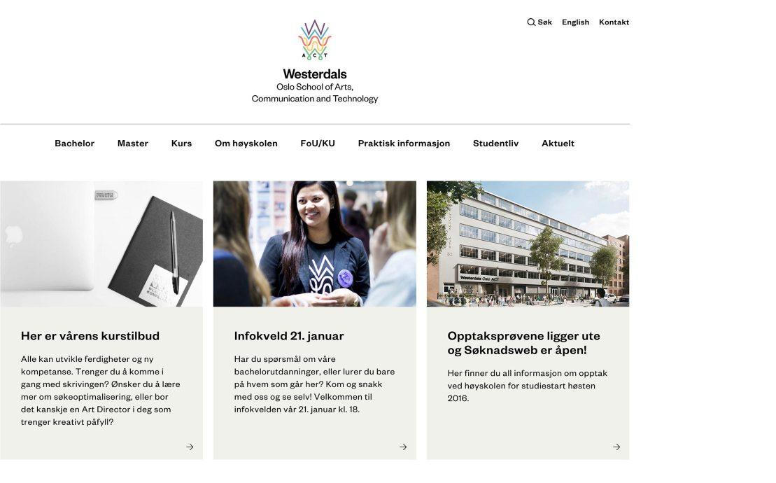 Desktop skjermbilde av Westerdals