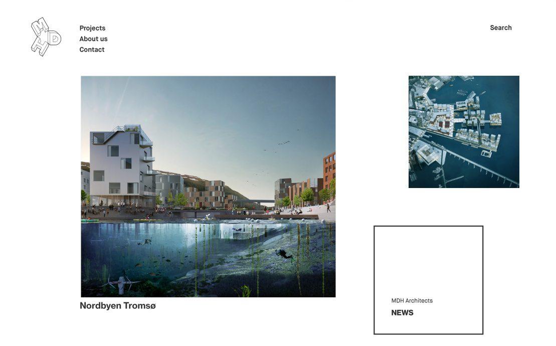 Desktop skjermbilde av Mdh arkitekter