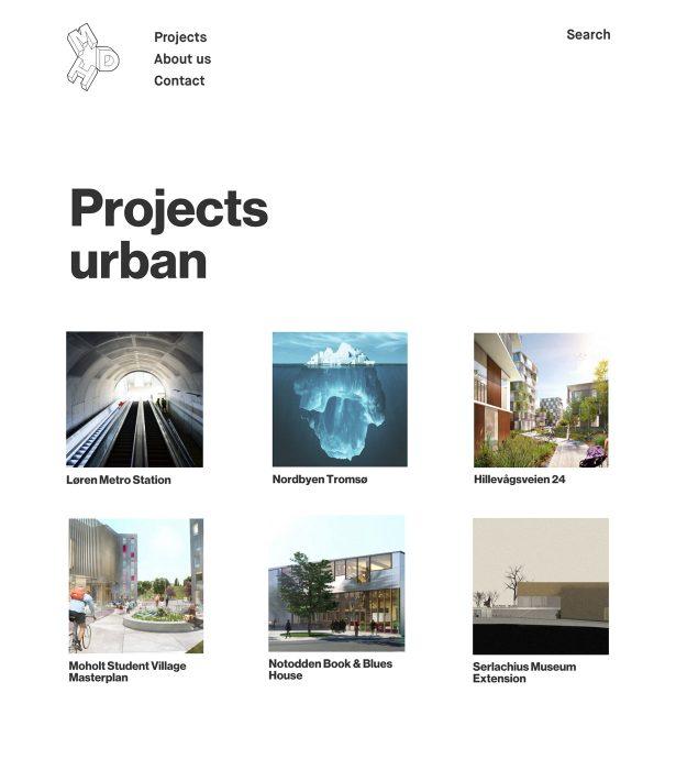 Nettbrett skjermbilde av Mdh arkitekter