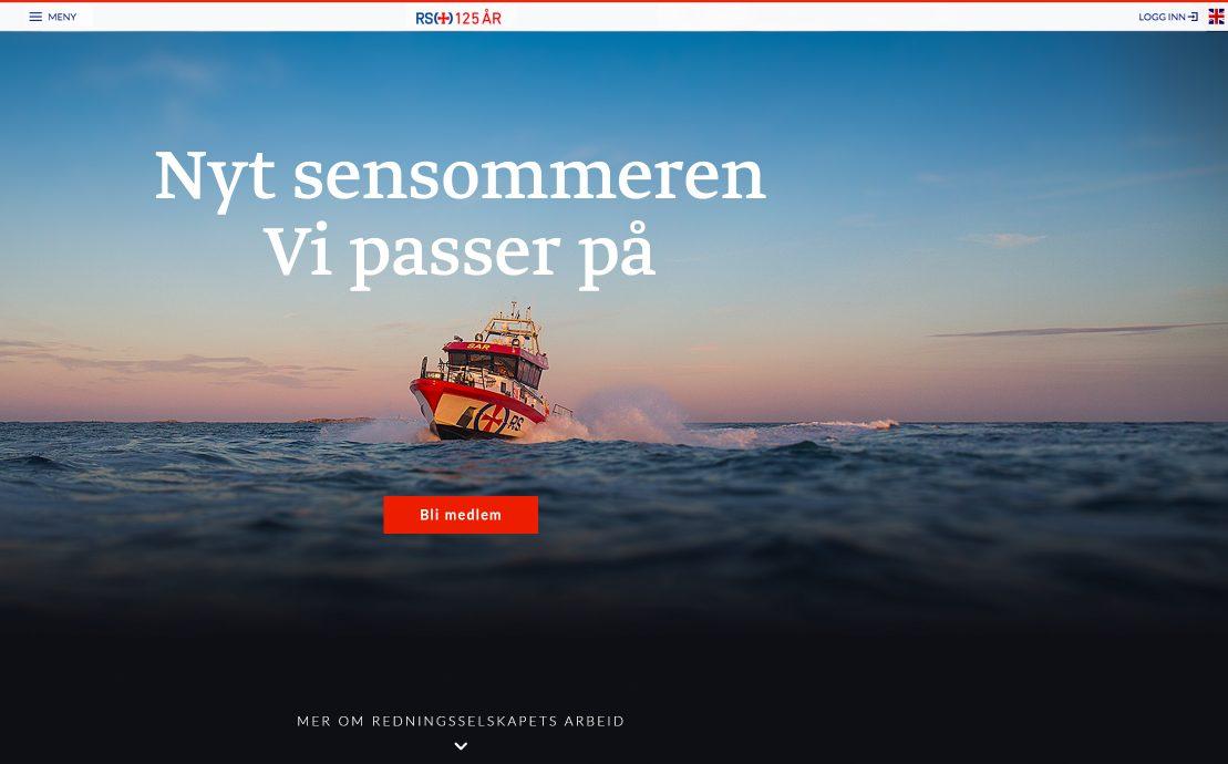 Desktop skjermbilde av Redningsselskapet