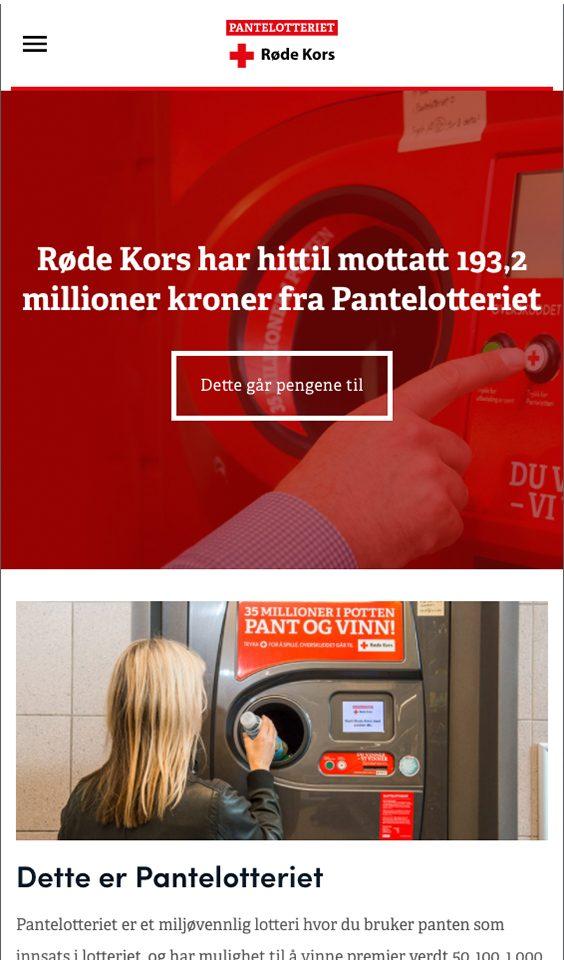 Mobil skjermbilde av Olav Thon Gruppen og Pantelotteriet