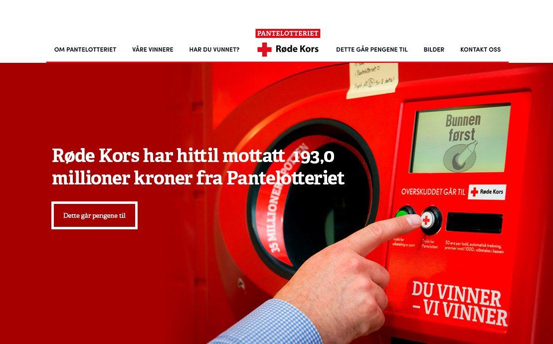 Desktop skjermbilde av Olav Thon Gruppen og Pantelotteriet
