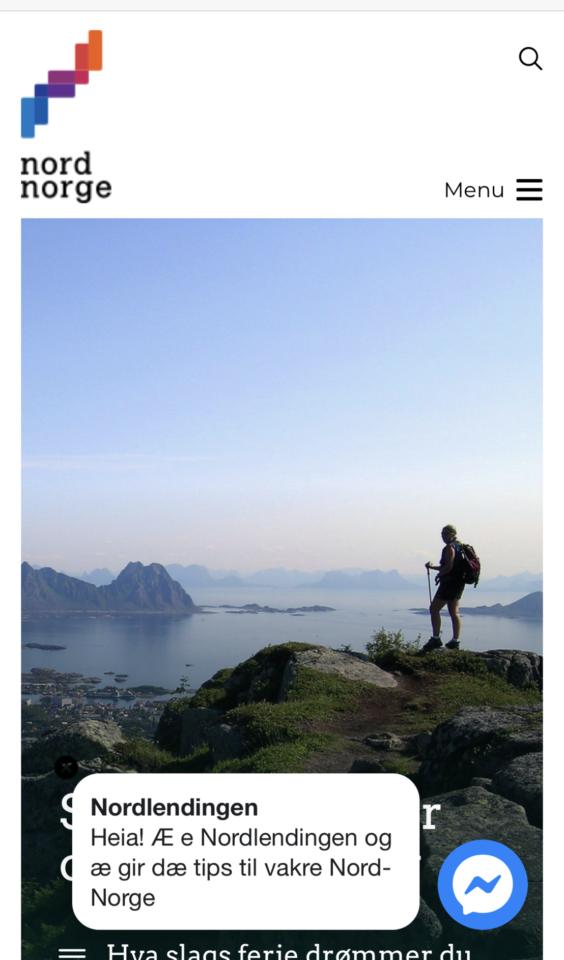 Mobil skjermbilde av NordNorsk Reiseliv