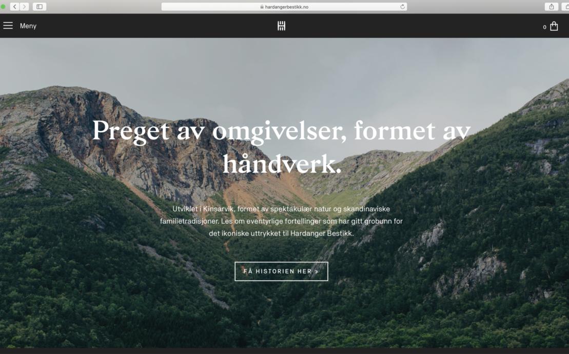 Desktop skjermbilde av Hardanger Bestikk