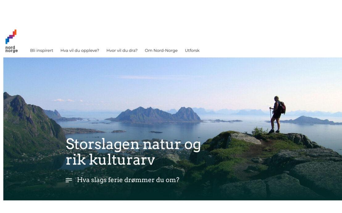 Desktop skjermbilde av NordNorsk Reiseliv