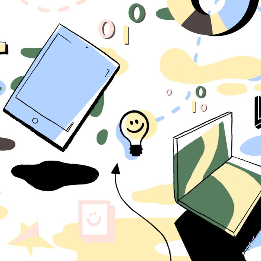 Illustrasjon av digitalt arbeid