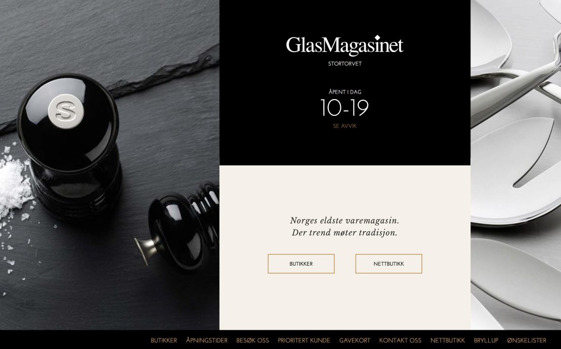 Desktop screenshot of GlasMagasinet