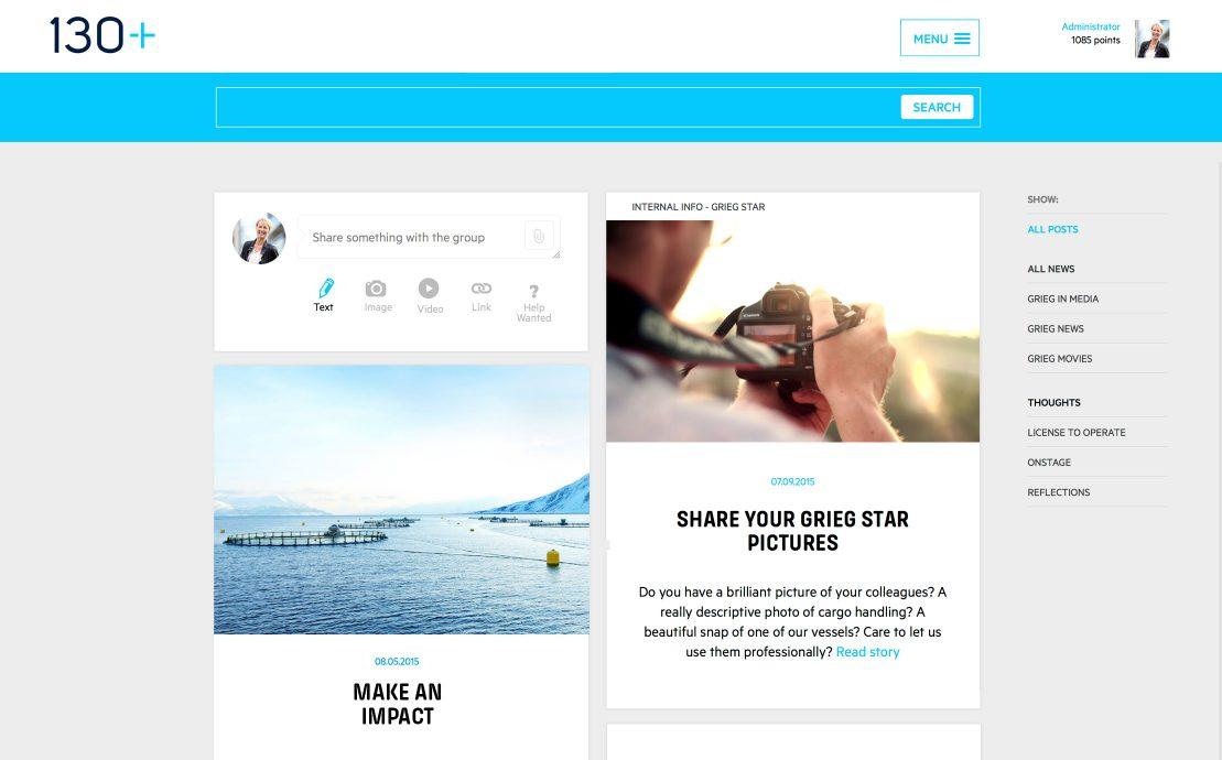 Desktop screenshot of Grieg Group
