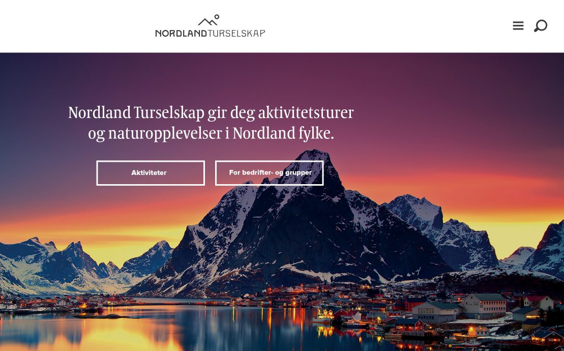 Desktop screenshot of Nordland Turselskap