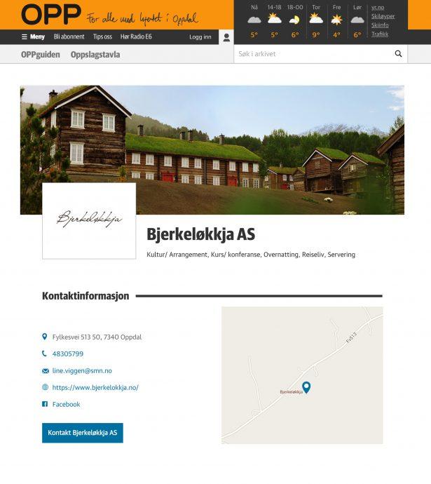 Tablet screenshot of Mediehuset OPP