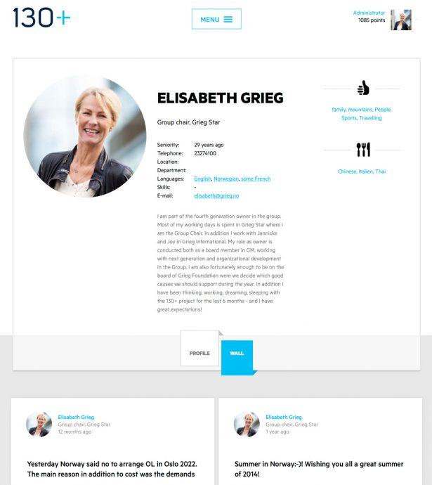Tablet screenshot of Grieg Group