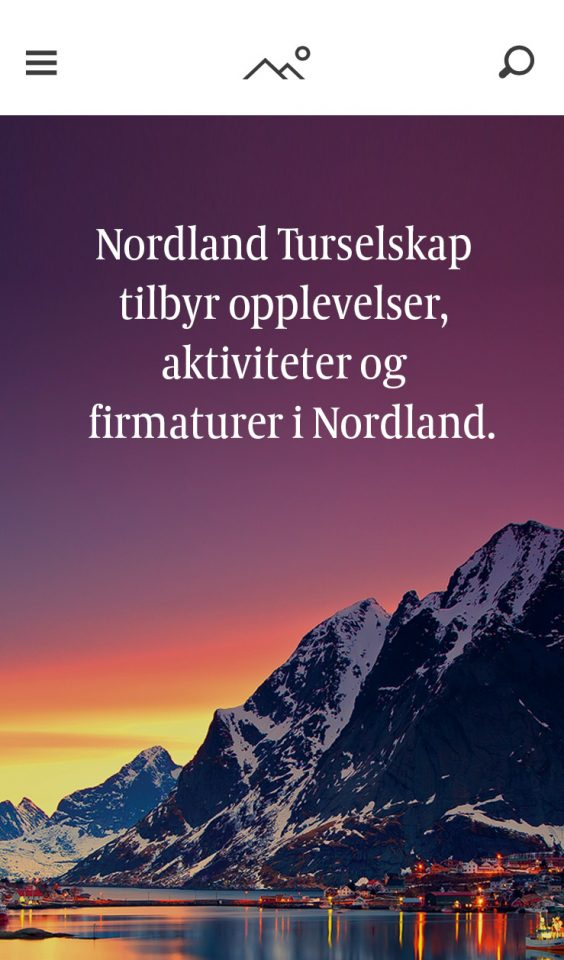Mobile screenshot of Nordland Turselskap