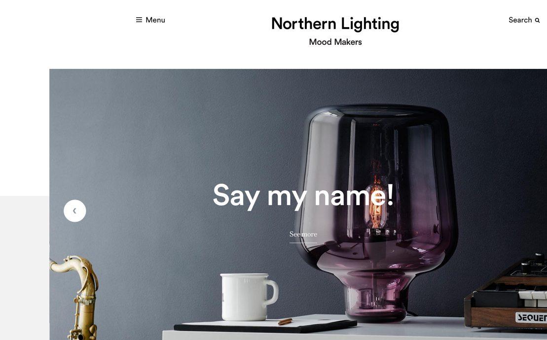 Desktop screenshot of Northern Lighting