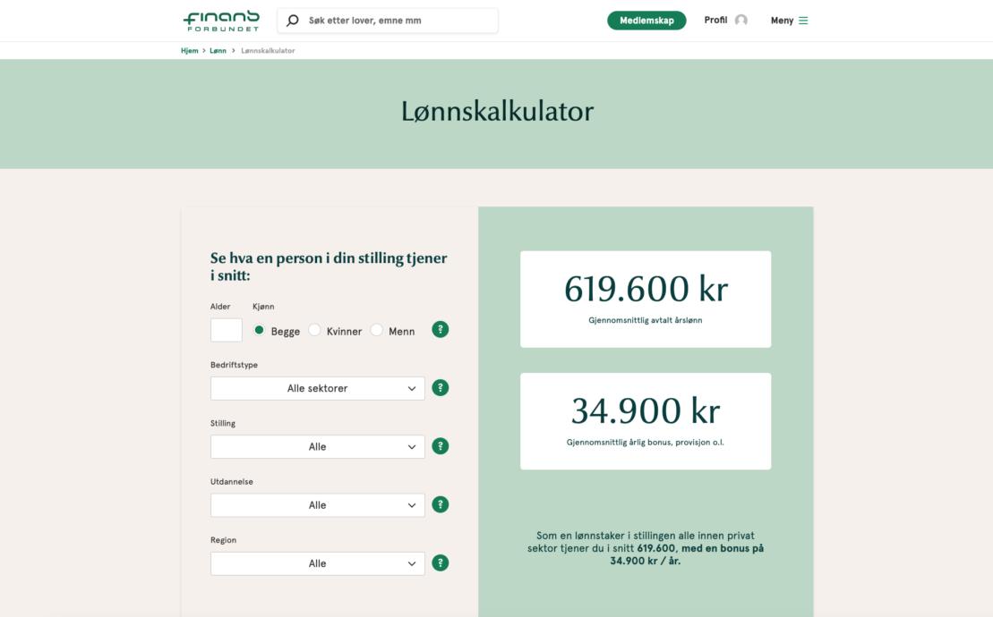 Desktop screenshot of Finansforbundet