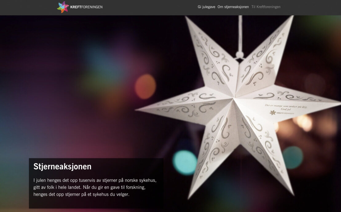 Desktop screenshot of The Norwegian Cancer Society