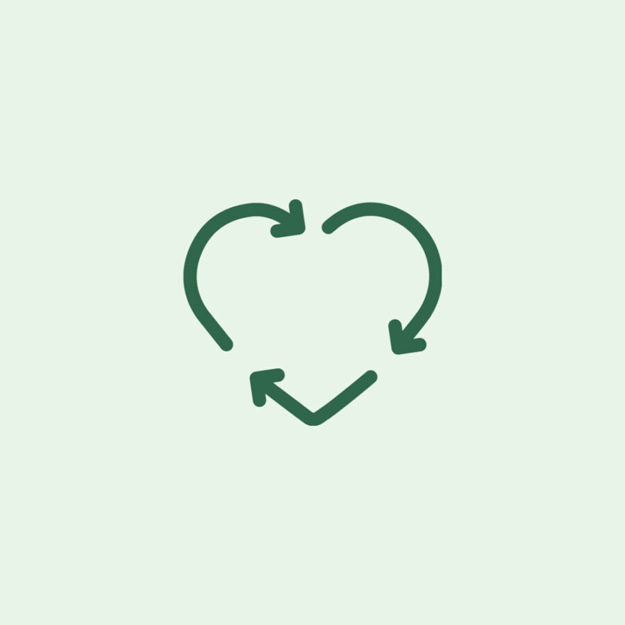 Icon of recycle heart