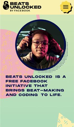 Mobile screenshot of Beats Unlocked by Facebook