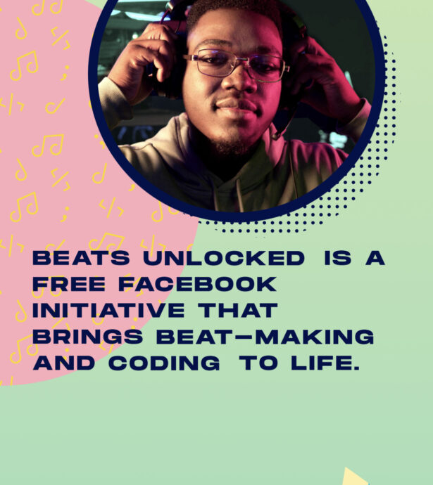 Tablet screenshot of Beats Unlocked by Facebook