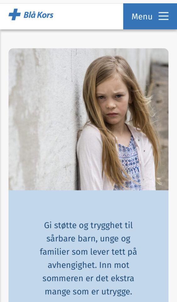 Mobile screenshot of Blue Cross Norway