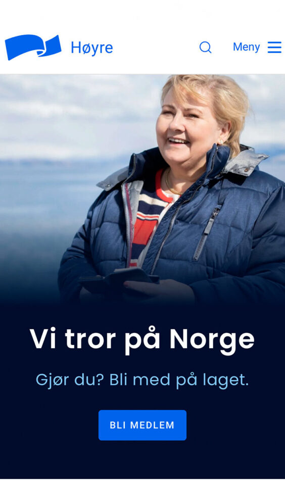 Mobile screenshot of The Conservative Party of Norway