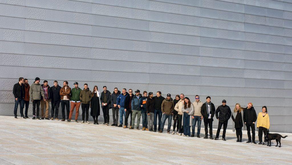Alle de ansatte i Dekode på Opera-taket.
