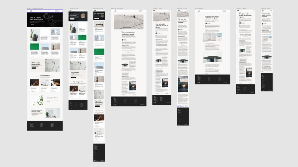 Dekodes eget designsystem Teft