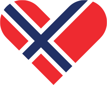 Norskt flagghjerte - symbol for Giving Tuesday.
